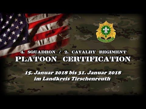 4/2 CR Platoon Certification 2018 - kurze Zusammenfassung - US Army Manöver Oberpfalz