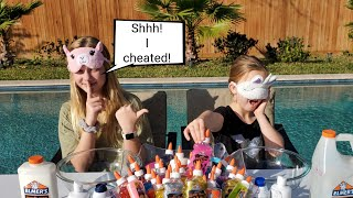 Blindfolded Slime Challenge! / Francesca Cheated!!!