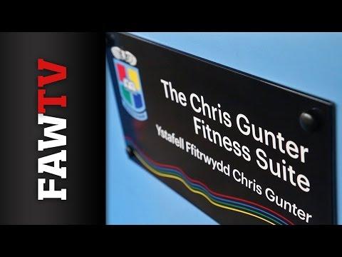 Chris Gunter opens new gym at former school in Newport