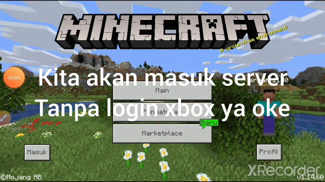 Cara masuk server minecraft pe tanpa login xbox - YouTube