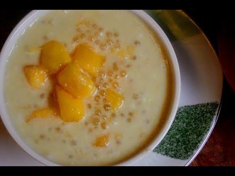 how to make mango tapioca dessert