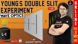 Youngs Double Slit Experiment   Wave Optics Introduction Part 1   Class 12 Physics   NEET 2020