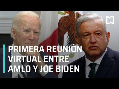 Primera reunión virtual entre AMLO y Joe Biden - Las Noticias