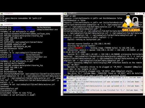 Video - usbsploit rb 0 4b with Metasploit, USB Auto[run|play
