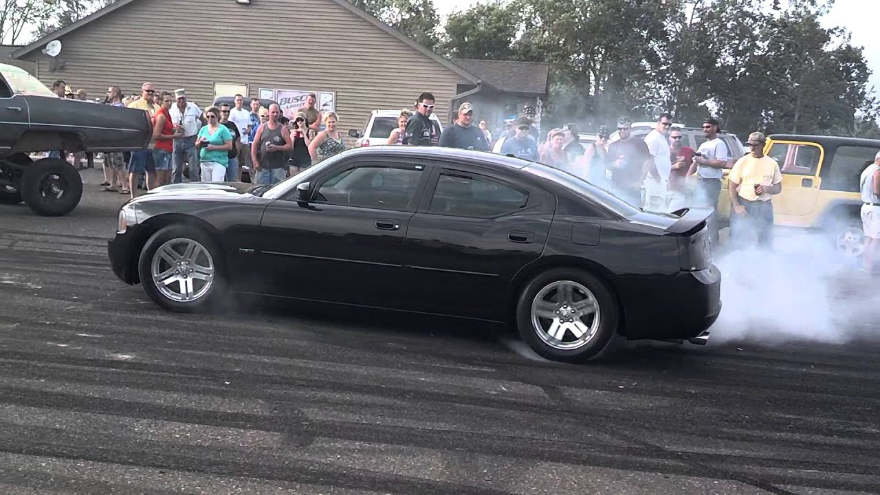 06 dodge charger rt burnout - youtube