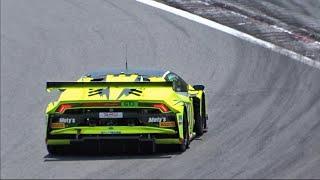 【富士】ウラカンGT3他 GT3 GT4レースカーサウンド/FIAGT3, GT4 cars sound in Fuji Speed Way. AMGGT4, HuracanGT3, NSX, 458