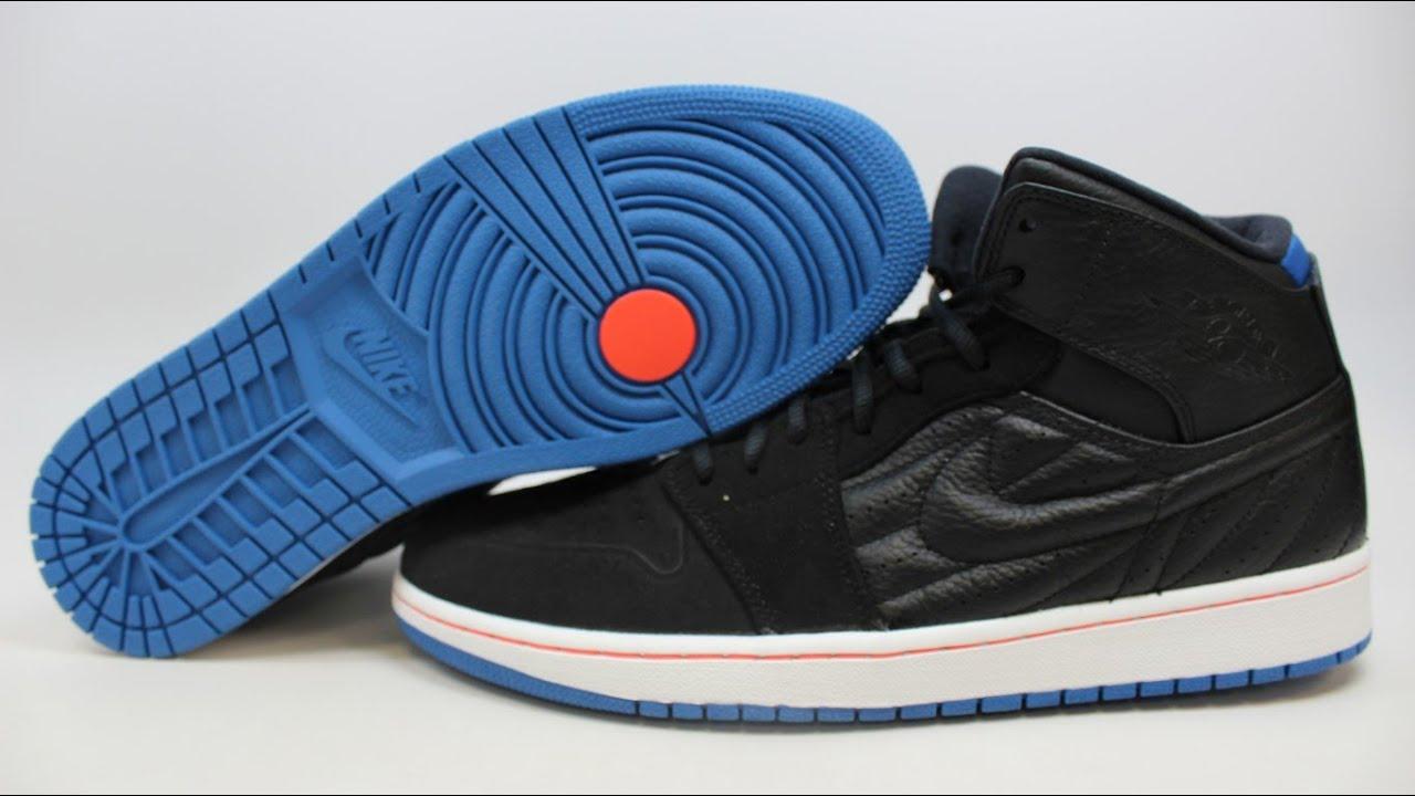 5a868b242ce Nike Air Jordan 1 I Retro 99 654140-007 KixRx.com Black/Grey-Blue Mens