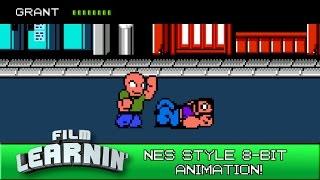 Film Learnin: NES style 8-Bit Pixel Art Animation!