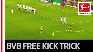 Dortmund's Cheeky Free Kick Move - Alcacer Scores Again