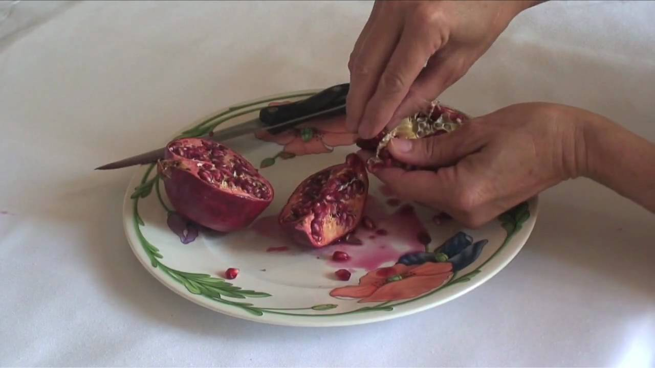 youtube how to eat a pomegranate