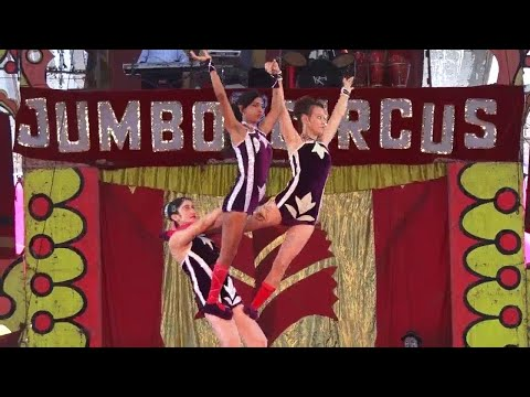 Acrobatic in the Jumbo circus 3 Female performers - Bombay circus