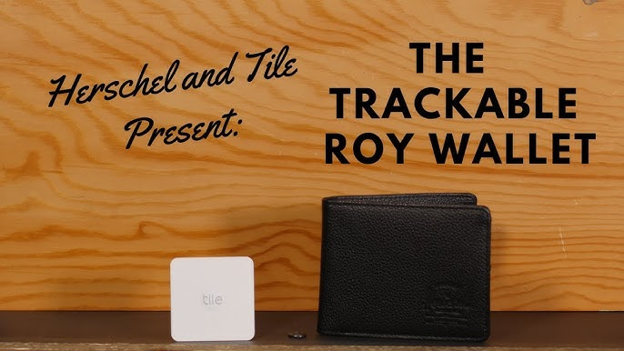 80dd54a40a4eb The Herschel x Tile TRACKABLE Roy Wallet!