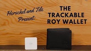 the herschel x tile trackable roy wallet