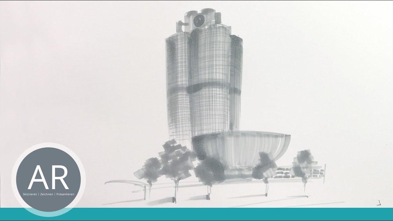 Teil 12 Bmw Zentrale Architektur Skizze Bewerbungsmappe