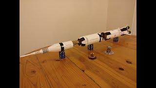 Lepin Saturn V 37003 (Lego 21309) - Timelapse build
