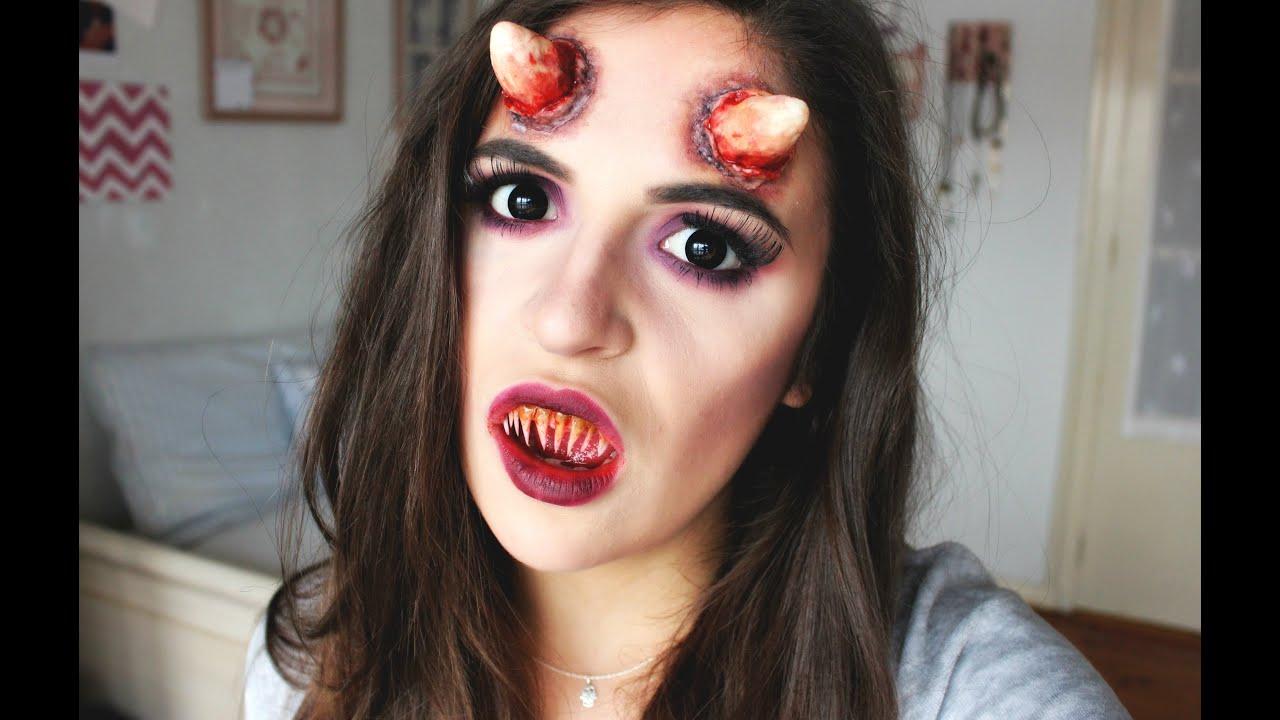 demon makeup maquillaje demonio halloween 2015 youtube - Maquillaje Demonio