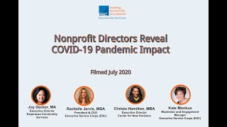 Nonprofit Directors Reveal the Impact of the COVID-19 Pandemic as of July 2020