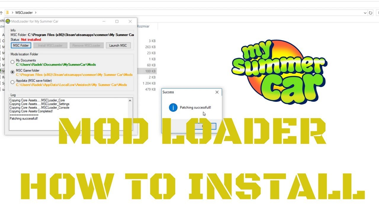 How to install MSC Mod Loader + install mods [Tutorial] - My Summer Car #37