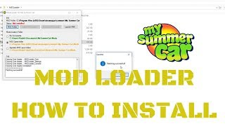 Tutorial - How to install MSC Mod Loader (How to install mods) - My...