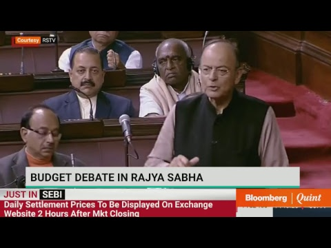 FM Arun Jaitley Speaks In Rajya Sabha