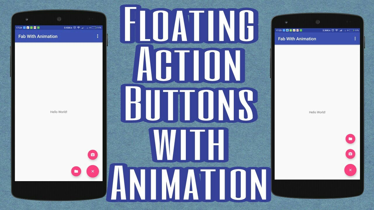 Floating Action Button Animation (without plugin)
