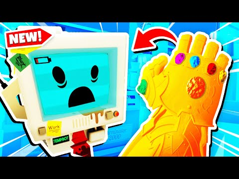 Temp Bot's INFINITY GAUNTLET Destroys JOB SIMULATOR (Funny Job Simulator VR Gameplay)