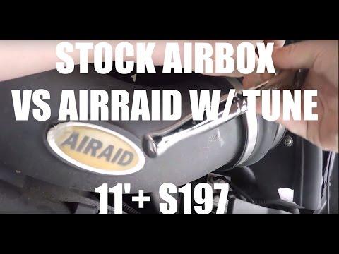 Stock intake vs AIRAID CAI  w/ INSTALL - 11+ S197 5.0