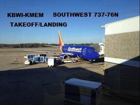 Southwest Airlines 737-76N (Heart Livery) KBWI-KMEM Takeoff&Landing