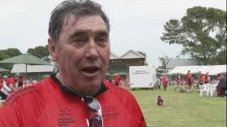 Eddy Merckx rides the 2012 Bupa Challenge Tour