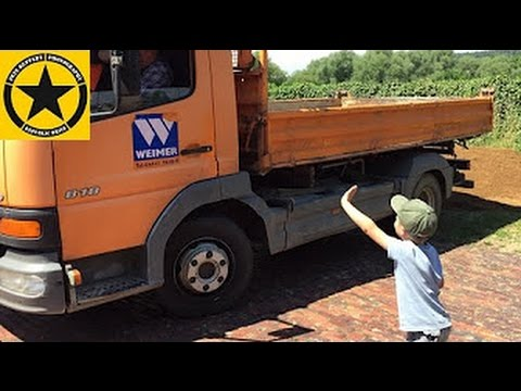 BRUDER TOYS with real TRUCK in Jack's bworld Construction