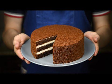 ОЧЕНЬ ПРОСТОЙ ШОКОЛАДНЫЙ ТОРТ How To Make Chocolate Cake From Chocolate Recipe