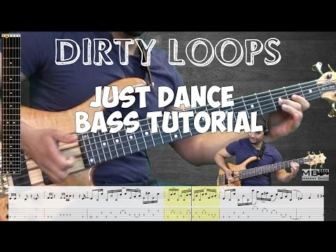 Just Dance - Bass Tutorial (with Tabs)