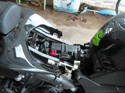 How To Remove The Rear Seat  Kawasaki Voyager