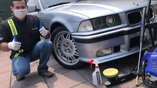 BMW E36 SNOW FOAM CAR WASH AND DETAILING  Juntos Saldremos de Esta Guatemala
