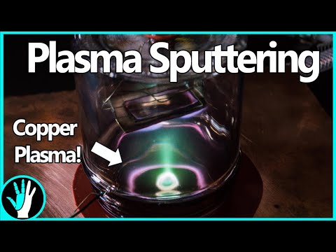 Coat GLASS in METAL Using Plasma - Magnetron Sputtering