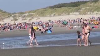 Quend plage sur Somme en Picardie, France.