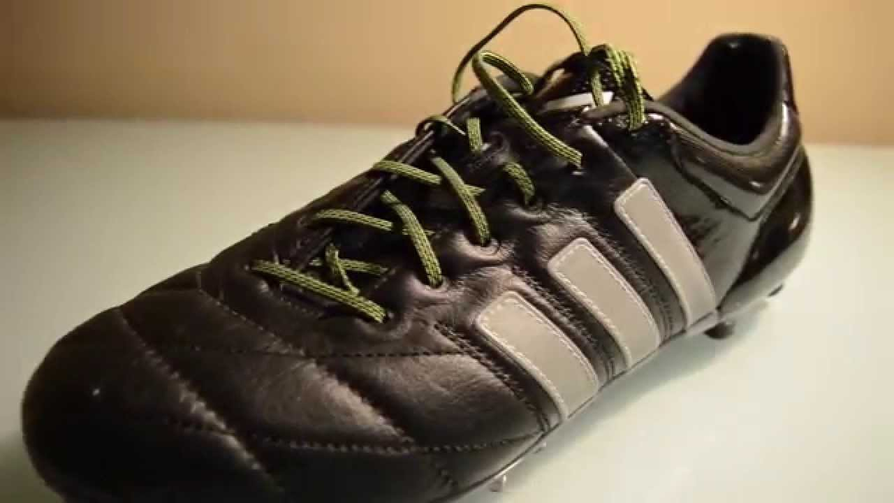097d672ce ... purchase unboxing adidas ace 15.1 fg ag leather core black silver  metallic solar yellow teamdfspain 6a18d