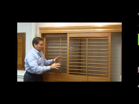 & Plantation Shutters for Sliding Glass Doors - YouTube