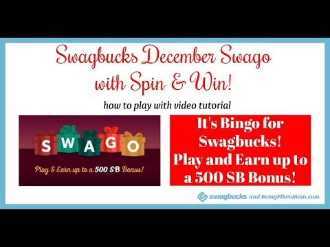 Swagbucks December Swago with Spin and Win