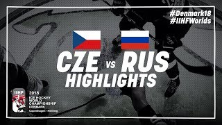 Game Highlights: Czech Republic vs Russia May 10 2018 | #IIHFWorlds 2018