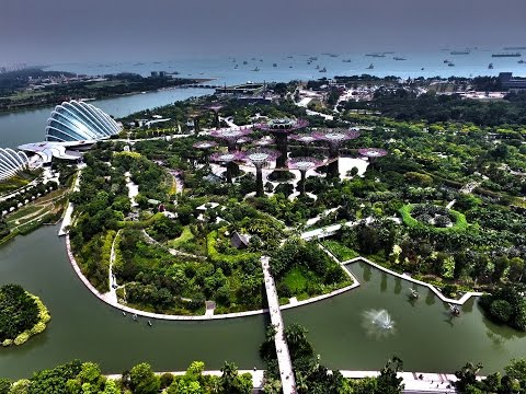 Singapore 4k  Aerial Drone Photography  2015