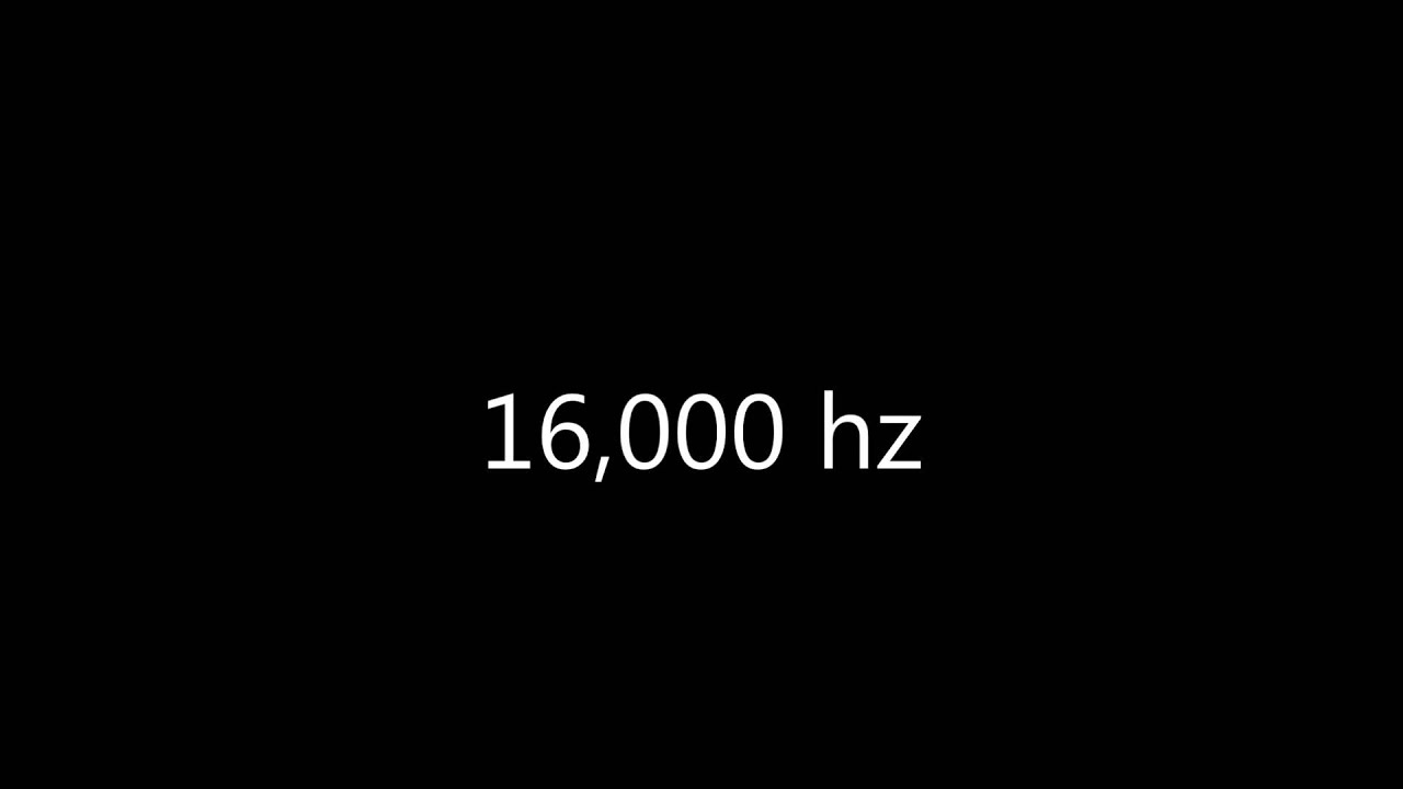 16,000 hz HD sine wave (ISO standard EQ frequency)