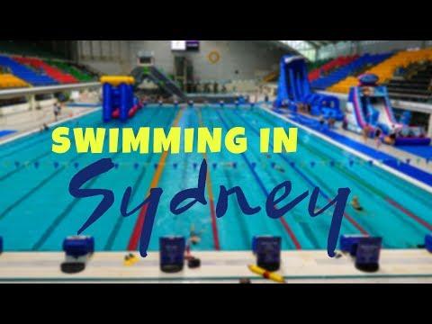 Swimming in Sydney Olympic Park Aquatic Centre and Bondi Beach