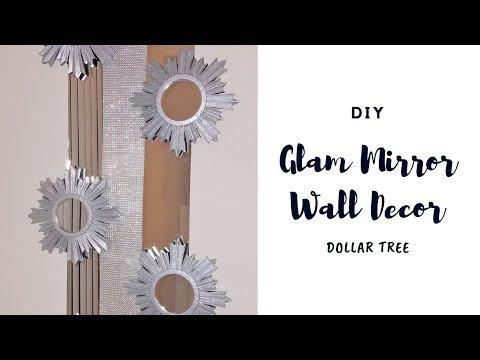 Dollar Tree DIY 💎💎 Glam Mirror Wall Decor | Chanelle Novosey