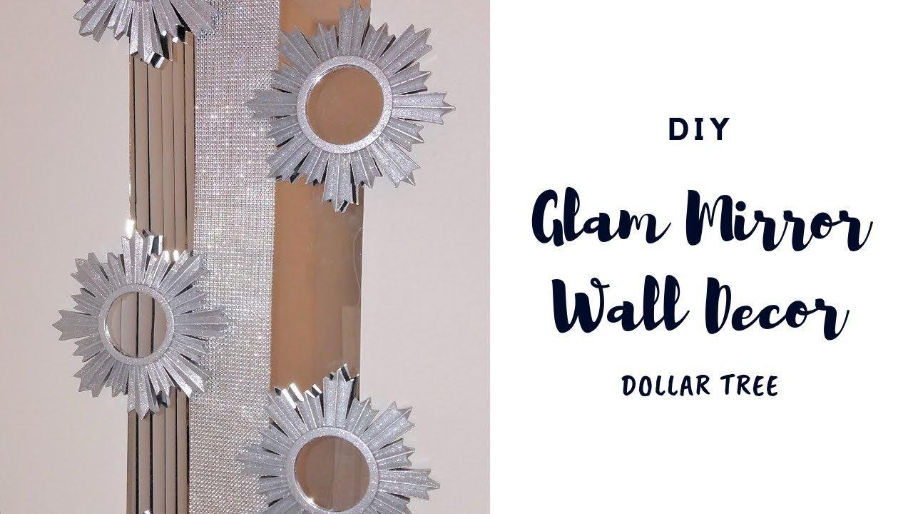 Dollar Tree DIY 💎💎 Glam Mirror Wall Decor | Chanelle ...