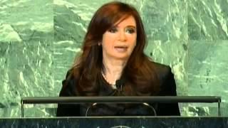 Asamblea General de la ONU 2011. Discurso de la Presidenta Cristina Kirchner.