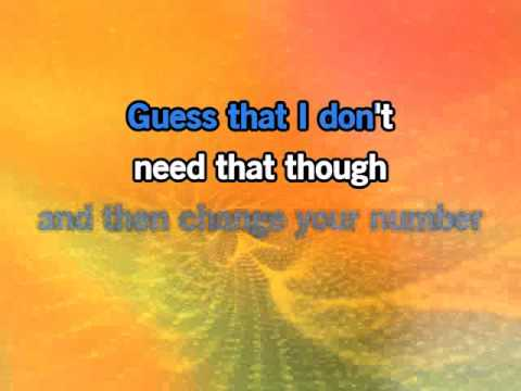 Gotye - Somebody That I Used to Know - Karaoke with Lyrics on Screen & Backing Vocals