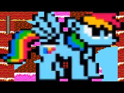 SSD:Megapony Jogando com a pônei Rainbow Dash