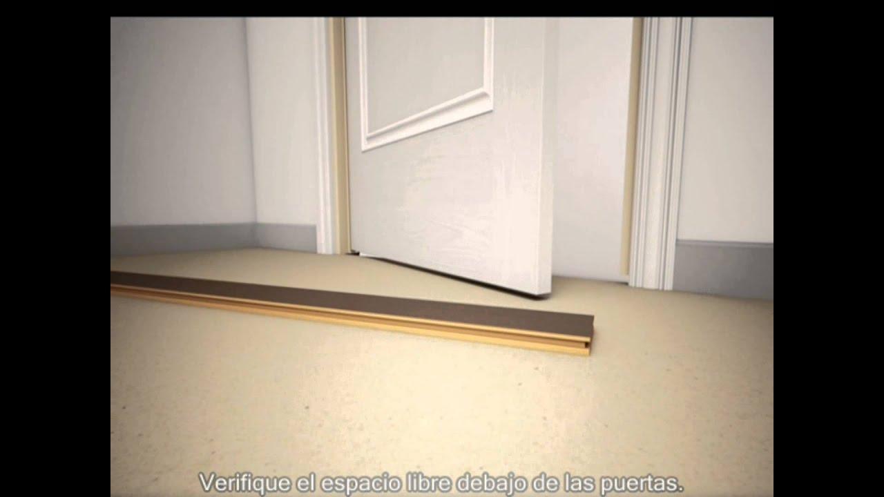 V deo de la instalaci n pisos de madera s lida y de bamb youtube Instalacion piso madera