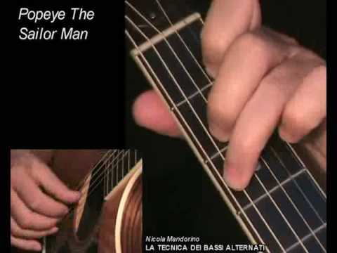 Popeye The Sailor Man - Fingerpicking + TAB! Learn To Play, Guitar Lesson